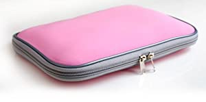 Duragadget Pink 17 Inch Water resistant laptop carry case / bag / sleeve for HP Pavilion dv7-1050ea Intel Centrino Core 2 Duo P8600 4GB from DURAGADGET