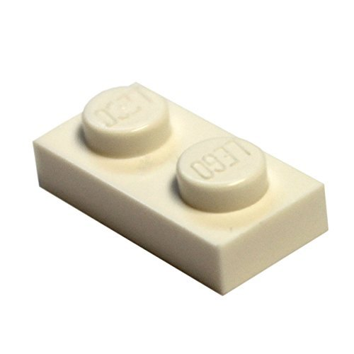 LEGO Parts and Pieces: White 1x2 Plate x50 (Lego Building Plate White compare prices)