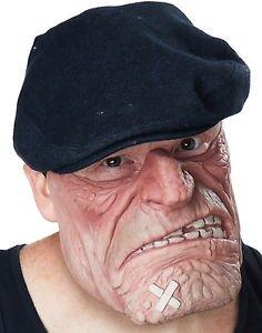 Comic Book Gangster Thug Brawler Adult Halloween Costume Mask (Horror Flesh Grey Makeup)