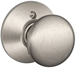 Schlage F170PLY619 Plymouth Dummy Knob, Satin Nickel