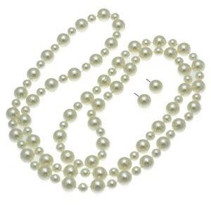 Liliann Long Cream Pearl Necklace Set
