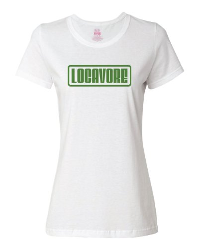 Shirtloco Women'S Locavore T-Shirt, White Extra Large