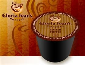 Gloria Jean's Butter Toffee Coffee * 4 Boxes of 24 K-Cups *