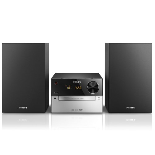 Philips MCM2300/12 Sistema Musicale Micro USB, Audio-in, Lettore di CD/MP3-CD/CD-R/RW