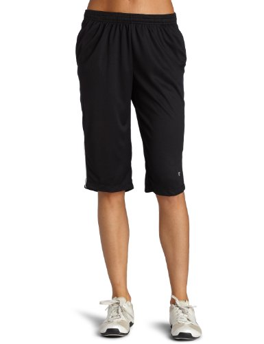 Champion Women's Training Knee Pant,Black/White,Small