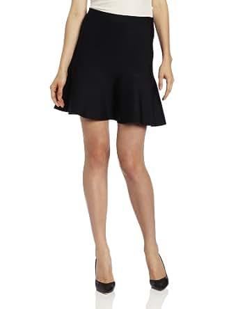 BCBGMAXAZRIA Women's Ingrid Flared Skirt, Black, X-Small