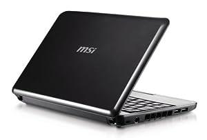 MSI Wind U100-053US 10-Inch Mini Laptop  (1.6 GHz Intel Atom Processor, 1 GB RAM, 80 GB Hard Drive, XP Home, 6 Cell Battery) Black