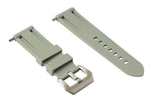 24mm Cinturino in gomma (Panerai...) (Grigio Chiaro)