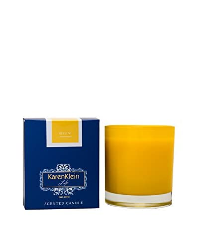 Karen Klein Life Florentine 10.25-Oz. Solid Candle, Bellini (Peach/Champagne)