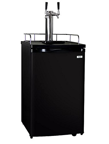 Buy Bargain Kegco K199B-2P Kegerator Two Keg Beer Cooler - Premium Double Faucet D System Kit - Blac...