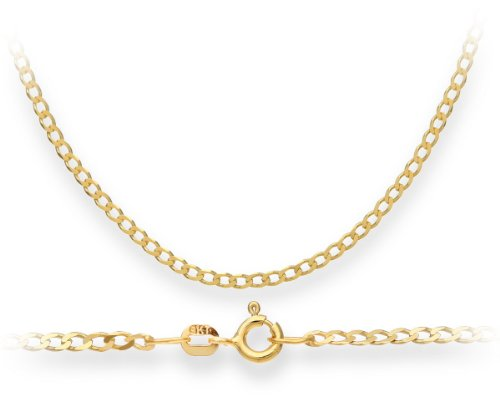 Necklace, 9ct Yellow Gold Curb Chain, 41cm Length, Model TGZ 060