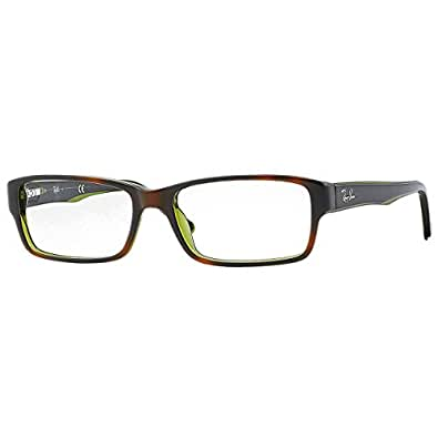 Ray-Ban RX5169 Eyeglasses Top Havana on Green Trans 52mm [Apparel]