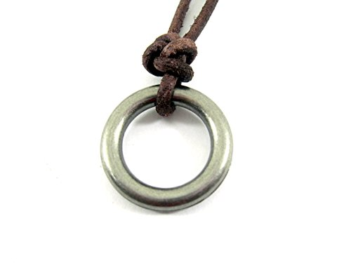 Streetsoul Single Ring Brown Leather Adjustable Necklace Gift For Men.