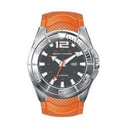 BG30516  Men's Black Dial Big Orange Strap Watch