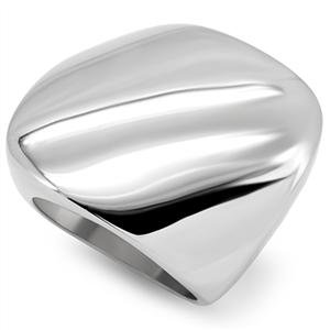 RIGHT HAND RING - High Polished Stainless Steel Smooth Surface Square Dome Ring