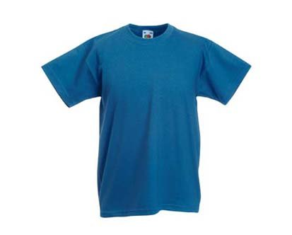 Kinder T-Shirt Valueweight; Blau,164 164,Blau