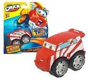 Tonka CHUCK & Friends Twist Trax Diecast KAZUO [Red/White TUNER Truck]