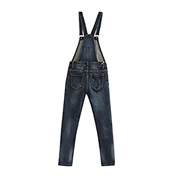 Eurssto Women's Basic Vintage Denim Jeans Overalls Pants Navy
