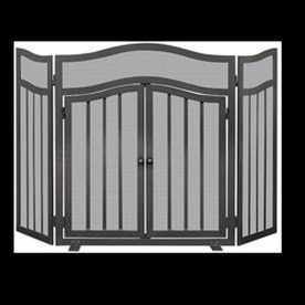 UniFlame S-1026 3 Panel Wrought Iron Screen with Doors (Blue Rhino Fireplace Screen compare prices)
