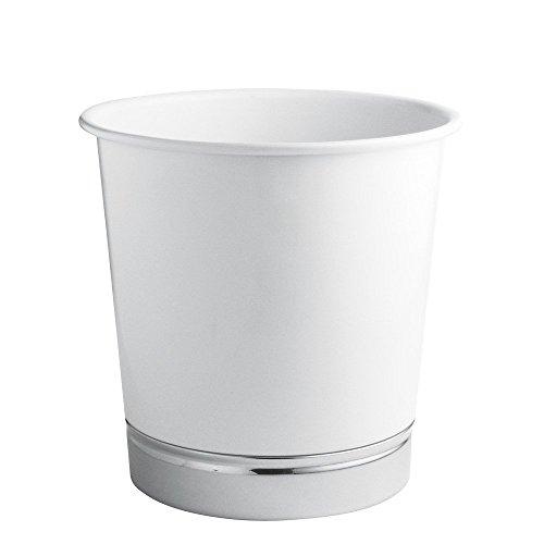 interdesign-cestino-rifiuti-york-bianco-cromo