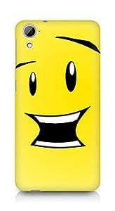 Amez designer printed 3d premium high quality back case cover for HTC Desrie 826 (smiley face)