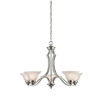 Westinghouse 6228600 Fallon Five-Light Interior Chandelier, Satin Platinum Finish with White Alabaster Glass promo code 2015