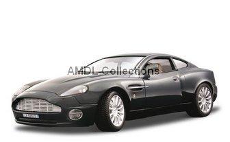 Gold Collezione, Aston Martin V12 Vanquish Black 1:18 Bburago Diecast Car Model