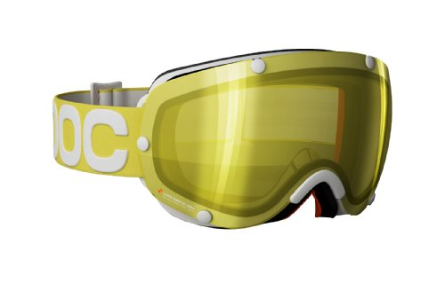 POC Lobes Yellow Strap Goggles with Yellow Lense (One Size)