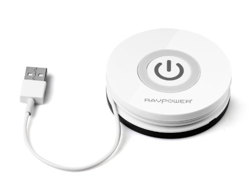 RAVPower 「Qi」規格ワイヤレスチャージャー Qi充電パッド 置くだけ充電 非接触充電 無線充電器 (円型・ホワイト)RP-WCN12(Nexus5/7/4;Samsung S4,S3,I510;LG Optimus LTE2,VS920;HTC Rezound, Incredible 2, Incredible 4 LTE;Motorola Droid 4; Nokia Lumia 920;Fujitsu docomoand F-10D,F-09D,F-03D,F-03D Girls';Sharp docomo SH-07D,SH-04D,SH-02D,SH-13C;NEC docomo N-01D;Panasonic docomo P-06DなどAppleAndroid機器に対応)