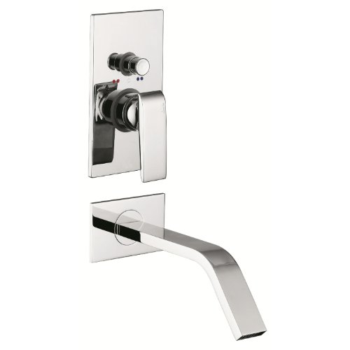 Abode Extase Shower Mixer & Diverter - Concealed - Single Lever -Fixed Spout - Chrome