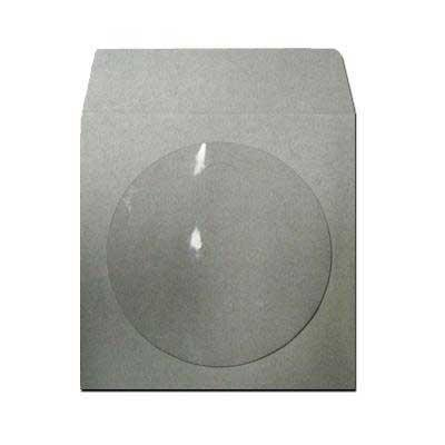 100 gray grey colored paper cd dvd disc sleeves with for 100 paper cd sleeves with window flap