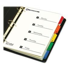 Cardinal Brands, Inc : Green Index System, w/ Table of Contents, 1-5, Multi -:- Sold as 2 Packs of - 1 - / - Total of 2 Each