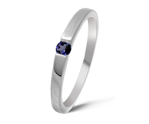 Beautiful 9 ct White Gold Ladies Solitaire Engagement Ring with Iolite