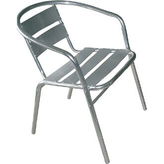 Garden / Patio Armchair Chair - Aluminium - 53Wx58Dx73.5Hcm (Pack 4) - stylish and durable furniture for your garden