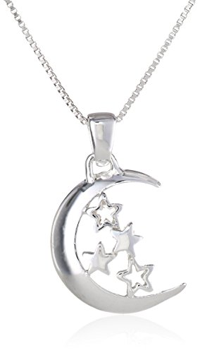 """Sterling Silver """"2 The Moon and Back"""" Pendant Necklace, 18"""""""