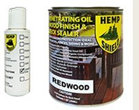 Hemp Shield Quart Wood Finish & Deck Sealer Redwood - 4 pack (Hemp Shield Stain compare prices)