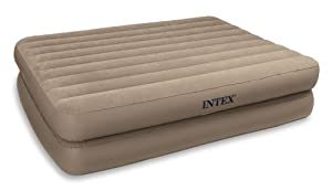 Intex 66717 Rising Comfort Raised Air Bed Queen