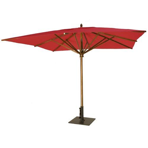 Greencorner - Greencorner 10' x 10' Square Umbrella - Crimson Red