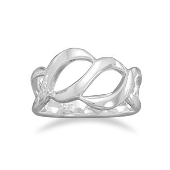 Cut Out Design Polished Ring, Sz 5-10