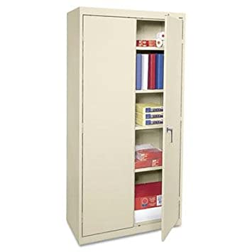 "Alera - Economy Assembled Storage Cabinet 36W X 18D X 72H Putty ""Product Category: Office Furniture/File & Storage Cabinets"""