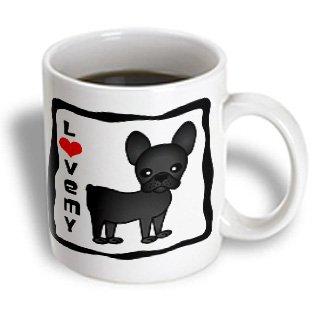 3Drose I Love My French Bulldog Black Brindle Mug, 11-Ounce