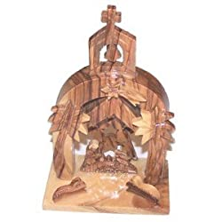 "Wood Nativity Set - One piece (11.5 cm or 4.5"" high)"