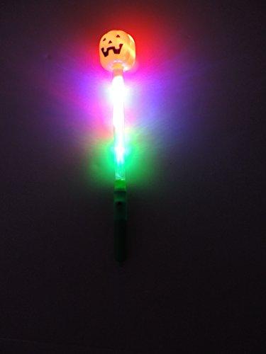 Lightup Jack O'Lantern and Skeleton Wand (Style May Vary) - 1