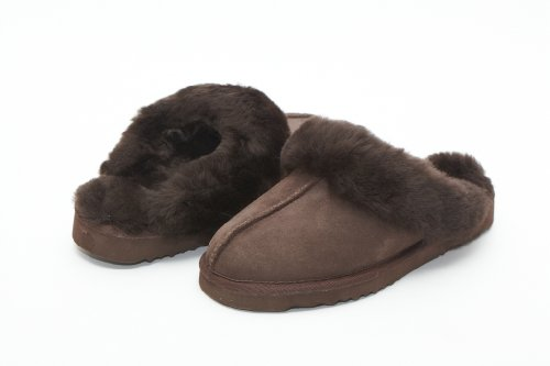 Cheap UniKoala Women's Classic Sheepskin Slipper Chocolate (B0073V0HGG)