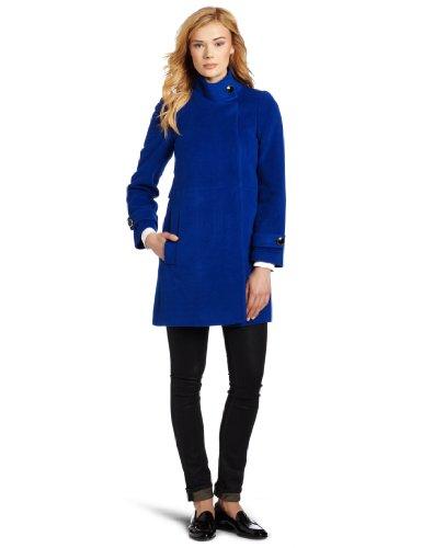 Trina Turk Women's Lucy Zip Coat, Royal, 2