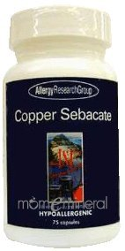 Copper Sebacate 4 mg 75 Capsules by Allergy Research Group