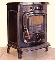 Warrior Stoves WSDGABENBRBB Gabriel Enamelled Multi-Fuel Stove With Boiler Brown