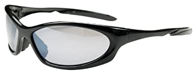 Polarized JMPS27 Sunglasses with TR90 Sport Frame UV400 Active Fit (BLACK)