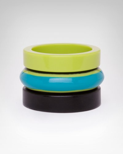 Bebe Multi Lucite Bangle Set LIMEADE COMBO onesize