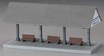 6129 Oyster Bay Station Platform Built-Up HO
